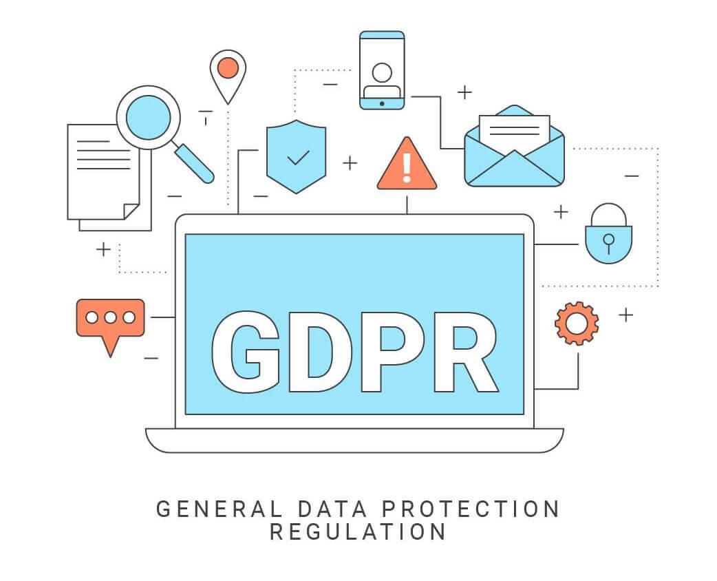 תקנות GDPR בנוגע לשמירה על פרטיות באתרי אינטרנט.